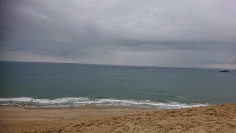 斜面からの砂丘